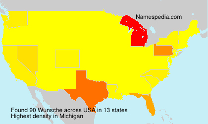 Surname Wunsche in USA