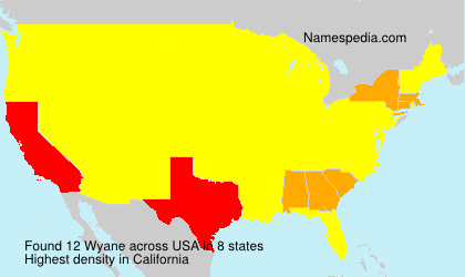 Surname Wyane in USA