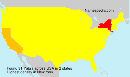 Surname Yabra in USA