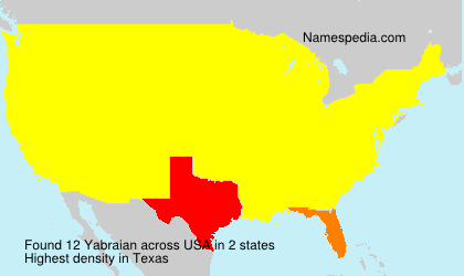 Surname Yabraian in USA