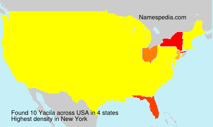 Surname Yacila in USA