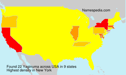 Surname Yaginuma in USA
