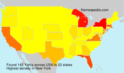 Surname Yahia in USA