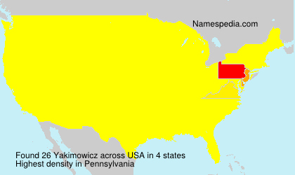 Surname Yakimowicz in USA