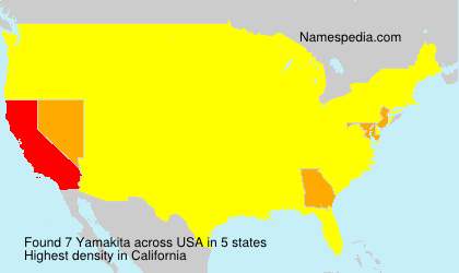 Surname Yamakita in USA