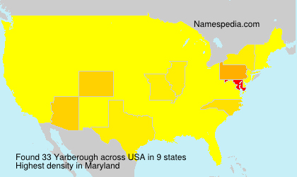 Surname Yarberough in USA