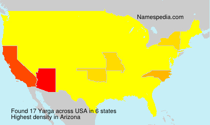 Surname Yarga in USA