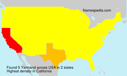 Surname Yarmand in USA
