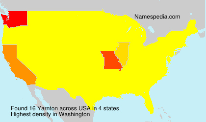 Surname Yarnton in USA