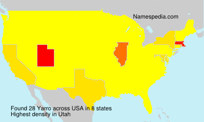 Surname Yarro in USA