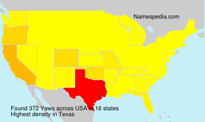 Surname Yaws in USA