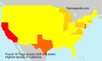 Surname Yega in USA