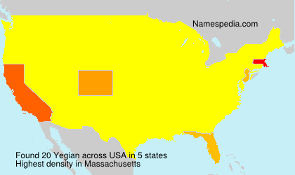 Surname Yegian in USA