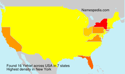 Surname Yehiel in USA