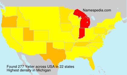 Surname Yeiter in USA