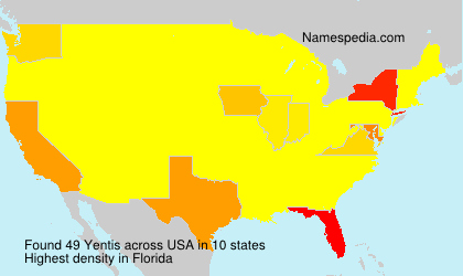 Surname Yentis in USA