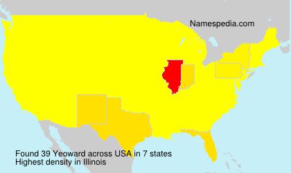 Surname Yeoward in USA