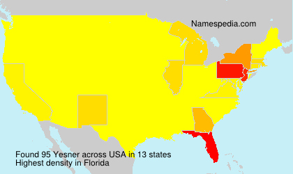 Surname Yesner in USA