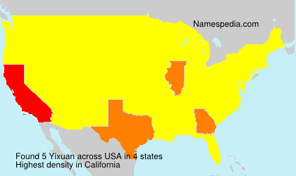Surname Yixuan in USA