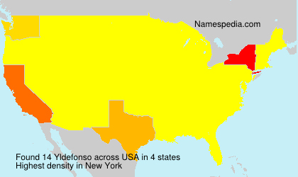 Surname Yldefonso in USA