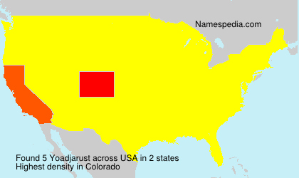 Surname Yoadjarust in USA