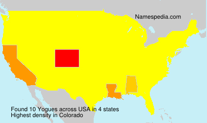 Surname Yogues in USA