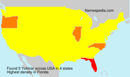 Surname Yolimar in USA