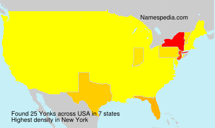 Surname Yonks in USA