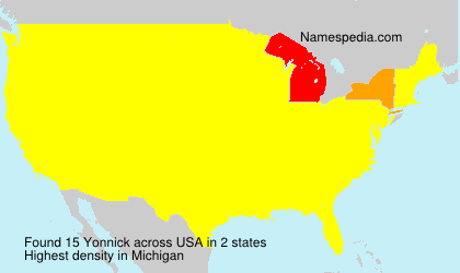 Surname Yonnick in USA