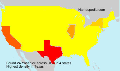 Surname Yosenick in USA