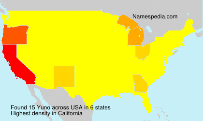 Surname Yuno in USA