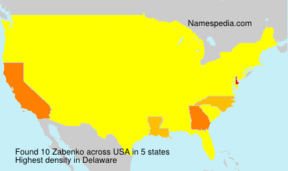 Surname Zabenko in USA
