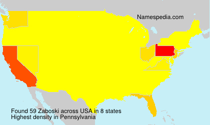 Surname Zaboski in USA