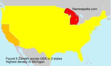Surname Zahdeh in USA