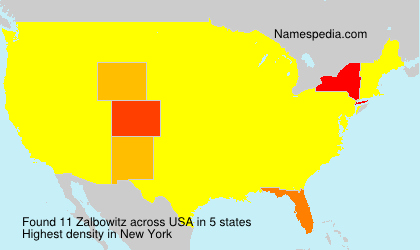 Surname Zalbowitz in USA