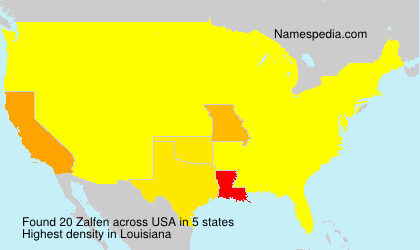 Surname Zalfen in USA