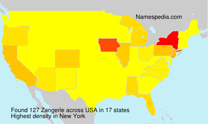 Surname Zangerle in USA