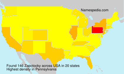 Surname Zapotocky in USA