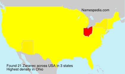 Surname Zaranec in USA