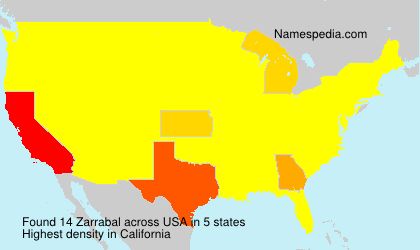 Surname Zarrabal in USA