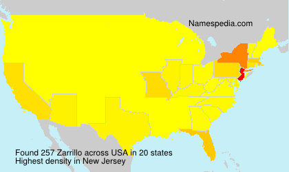 Surname Zarrillo in USA