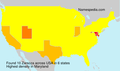 Surname Zarsoza in USA