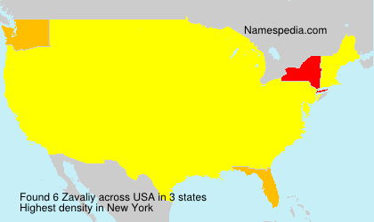 Surname Zavaliy in USA