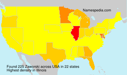 Surname Zaworski in USA