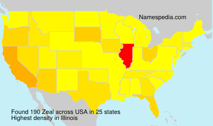 Surname Zeal in USA