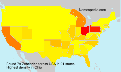 Surname Zehender in USA