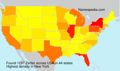 Surname Zeitler in USA