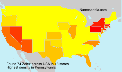 Surname Zelez in USA