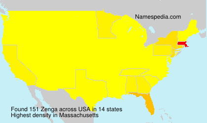 Surname Zenga in USA
