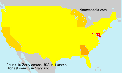 Surname Zerry in USA
